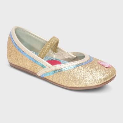 Toddler Girls' Shimmer and Shine Ballet Flats - Gold