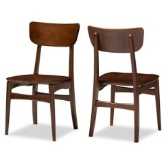 Dark Brown Wooden Dining Chairs Office Chair Support For Upper Back Netherlands Mid Century Modern Scandinavian Style Walnut Bent Wood Side Set Of 2 Baxton Studio