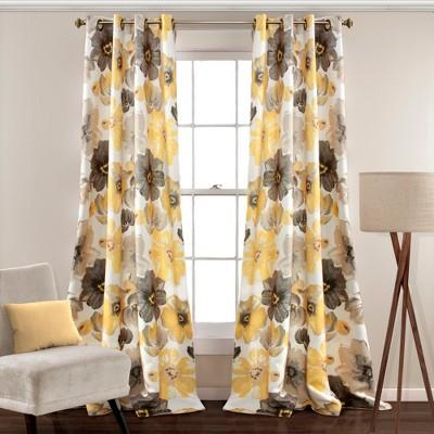 Set of 2 Leah Room Darkening Window Curtain Panels - Lush Decor
