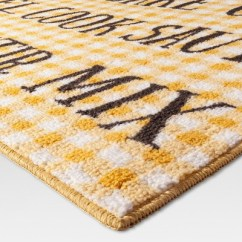 Yellow Kitchen Rugs Childs Rug Cooking Words 30 X46 Threshold Target
