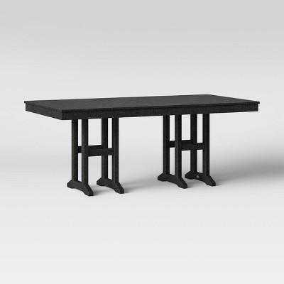 moore polywood 35 x70 farmhouse rectangle patio dining table black project 62