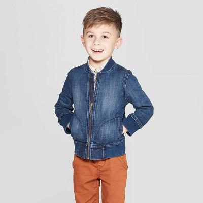 Genuine Kids® from OshKosh Toddler Boys' Denim Bomber Jacket - Dark Wash
