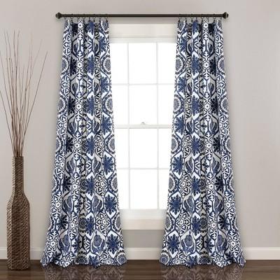 set of 2 95 x52 marvel room darkening window curtain panels navy lush decor