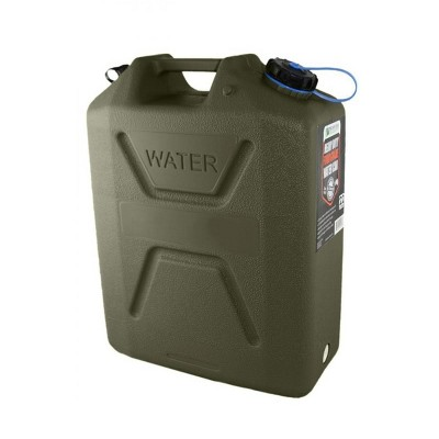 Wavian Usa 5 Gallon Plastic Water Jug Can Container With Easy Pour Spout, Green
