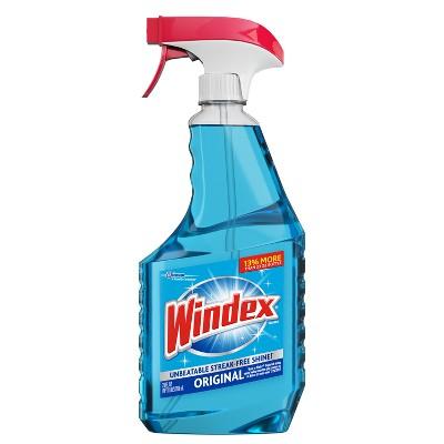 Windex Glass Cleaner Bonus Trigger Bottle Original Blue
