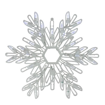 """Northlight 15"""" Cool White LED Lighted Snowflake Christmas Window Silhouette Decoration"""