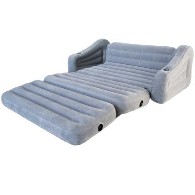 intex inflatable chairs weird looking 2 in 1 pull out sofa couch and queen air mattress futon gray target