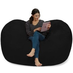 6 Foot Bean Bag Chair Portable Styling Relax Sack Ft Large Memory Foam Lounger Target 7 More