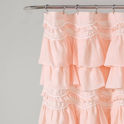 pink ruffle shower curtain target
