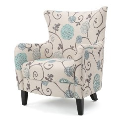 White Club Chairs Graco Duodiner Lx High Chair Manual Arabella Blue Floral Christopher Knight Home