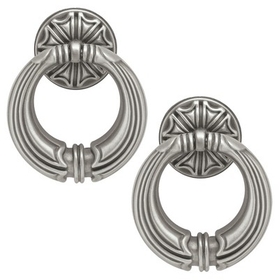 Liberty Hardware 50 mm French Huit Ring Pull - Brushed Satin Pewter (Set of 2)
