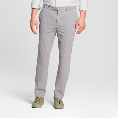 Men's Printed Straight Fit Lightweight Trouser - Goodfellow & Co™ Gray Herringbone