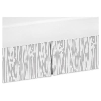 Gray & White Bed Skirt - Sweet Jojo Designs®