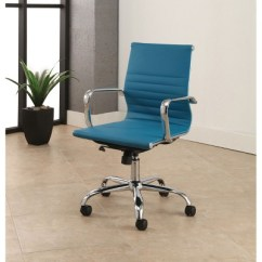 Blue Leather Office Chair Porch Swing Australia Jackson Silver Finish Turquoise Abbyson Target