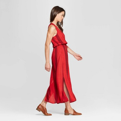 Women's Stripe Maxi Dress - Universal Thread™ Red