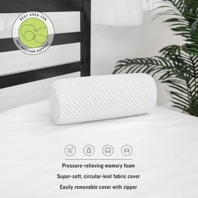 sensorpedic conforming memory foam neck roll pillow