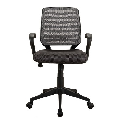 mesh task chair yellow office comfy rolling w arms and wheels black techni mobili target