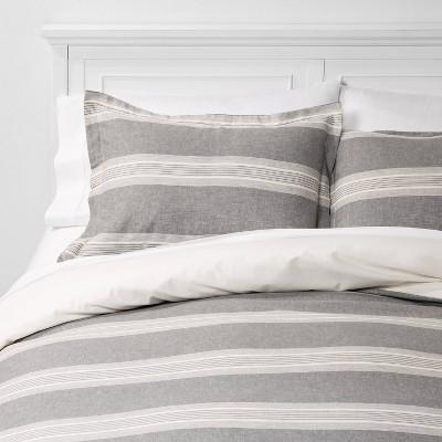 Chambray Yarn Dye Stripe Duvet & Sham Set - Threshold™