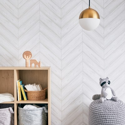 peel stick wallpaper textured herringbone gray cloud island