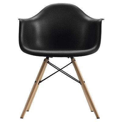 mid century modern plastic chairs wheelchair easy molded arm chair with wood leg dorel home products