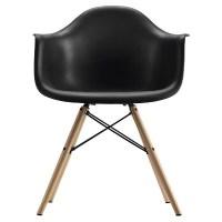 Mid Century Modern Molded Arm Chair With Wood Leg - Dorel ...