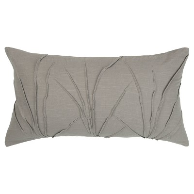 Textured Solid Decorative Filled Oversize Lumbar Throw Pillow - Rizzy Home