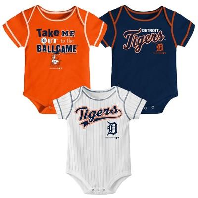 MLB Detroit Tigers Boys' 3pk Bodysuit Set