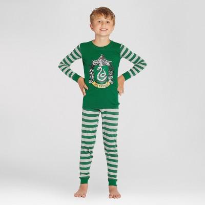 Boys' Harry Potter Slytherin 2pc Pajama Set - Green