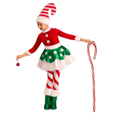 Baby Girls' Candy Cane Elf Princess Halloween Costume - Princess Paradise