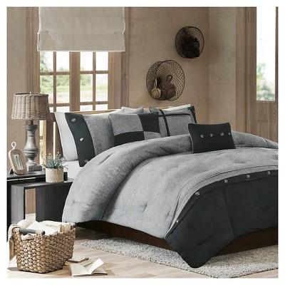 Gray Powell Printed Comforter Set (Queen) 5pc