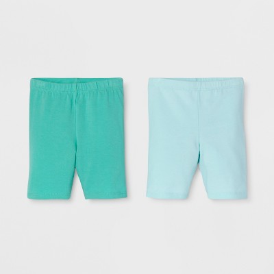 Toddler Girls' Trouser Shorts - Cat & Jack™ Teal/Light Blue