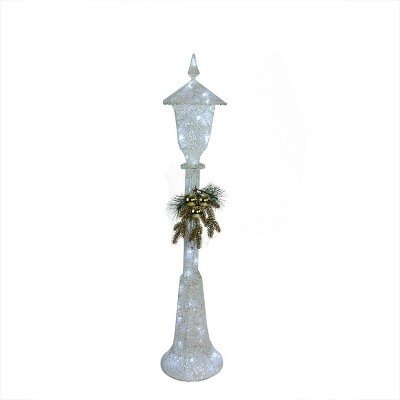 "Northlight 48"" LED Lighted Indoor/Outdoor Lamp Post Christmas Decoration - Cool White Lights"