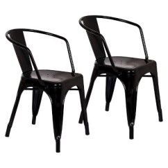 Industrial Metal Chairs Cotton Duck Chair Covers Carlisle Dining Threshold Target