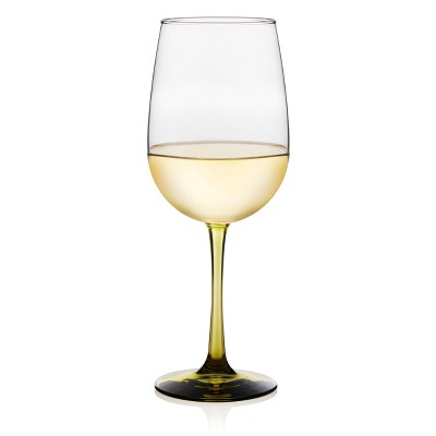 Libbey Vina Olive Stemmed Wine Glasses 18.5oz - Set of 6