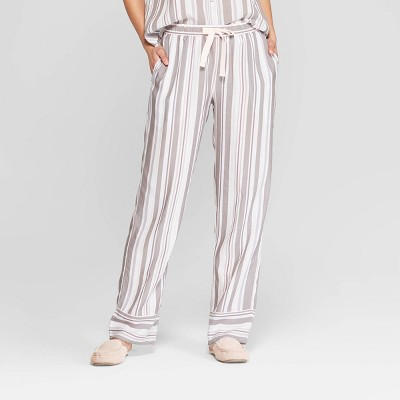 Women's Striped Simply Cool Pajama Pants - Stars Above™ Gray
