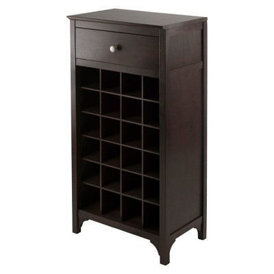 Ancona 24 Bottle Drawer Wine Cabinet Wood/Coffee - Winsome