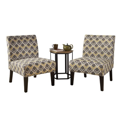 yellow and grey chair canopy beach kassi accent set of 2 christopher knight home