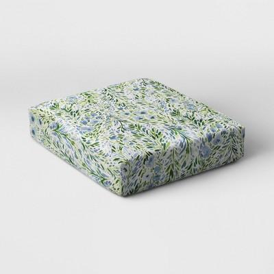 sammamish floral outdoor deep seat cushion duraseason fabric blue threshold