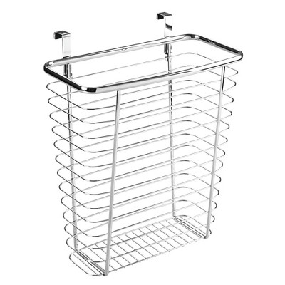 InterDesign Axis Over-the-Cabinet Steel Wastebasket