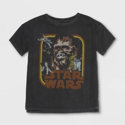Junk Food Boys' Star Wars Chewbacca Short Sleeve T-Shirt - Black