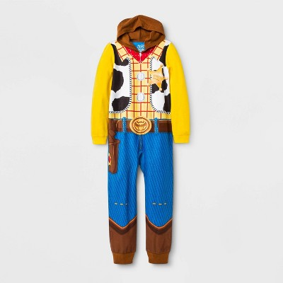 Boys' Toy Story Woody Union Suit - Blue/Yellow