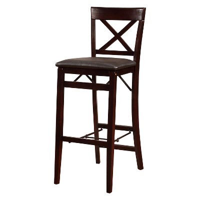 folding bar stool chairs beige accent triena x back linon target