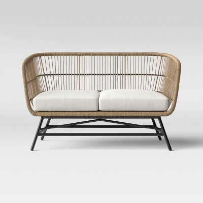 martii rattan patio loveseat brown project 62