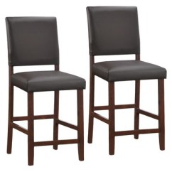 Upholstered Counter Height Chairs Ll Bean Adirondack Chair Cushions Set Of 2 Faux Leather Back Stool Black Leick Home