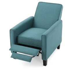 Teal Club Chair Electric Recliner Rental Darvis Fabric Christopher Knight Home Target