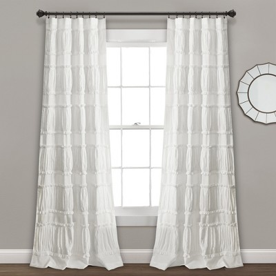 "84"" x 42"" Nova Ruffle Window Curtain Panels Set - Lush Decor"
