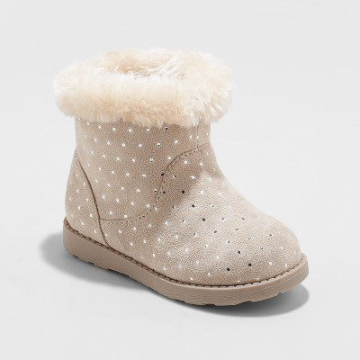 Toddler Girls' Oriole Fleece Ankle Fashion Boots - Cat & Jack™