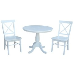 White X Back Chair Family Dollar Tables And Chairs 36 Bella Round Extension Dining Table With International Concepts