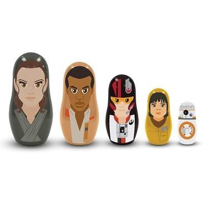 Star Wars: The Last Jedi The Resistance 5-Piece Plastic Nesting Dolls