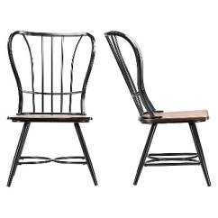 Industrial Dining Chair Office Chairs Ikea Longford Set Of 2 Baxton Studio Target
